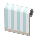 Animal Crossing New Horizons Blue-striped Wall Image