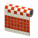 Animal Crossing New Horizons Red Two-toned Tile Wall Image