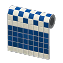 Animal Crossing New Horizons Blue Two-toned Tile Wall Image