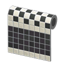 Animal Crossing New Horizons Black Two-toned Tile Wall Image