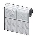 Animal Crossing New Horizons Alice's House White Botanical-tile Wall Wallpaper