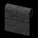 Animal Crossing New Horizons Black Botanical-tile Wall Image