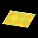 Animal Crossing New Horizons Yellow Argyle Rug Image