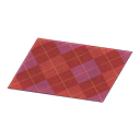 Animal Crossing New Horizons Red Argyle Rug Image
