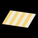 Animal Crossing New Horizons Yellow Stripes Rug Image
