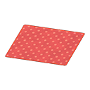 Animal Crossing New Horizons Red Dotted Rug Image