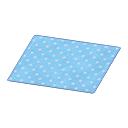 Animal Crossing New Horizons Blue Dotted Rug Image