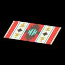 Animal Crossing New Horizons Red-design Kitchen Mat Image