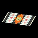 Image of Black-design kitchen mat