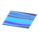 Animal Crossing New Horizons Blue Wavy Rug Image
