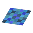 Animal Crossing New Horizons Blue Blocks Rug Image