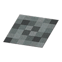 Animal Crossing New Horizons Black Blocks Rug Image