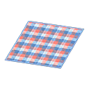 Animal Crossing New Horizons Red-and-blue Checked Rug Image