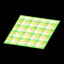 Animal Crossing New Horizons Yellow Checked Rug Image