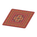 Animal Crossing New Horizons Red Kilim-style Carpet