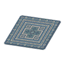 Animal Crossing New Horizons Blue Kilim-style Carpet Image