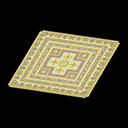 Animal Crossing New Horizons Yellow Kilim-style Carpet Image