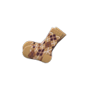 Secondary image of Argyle crew socks