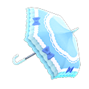 Animal Crossing New Horizons Blue Shiny-bows Parasol Image