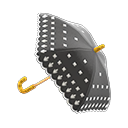 Animal Crossing New Horizons Black Lace Umbrella Image